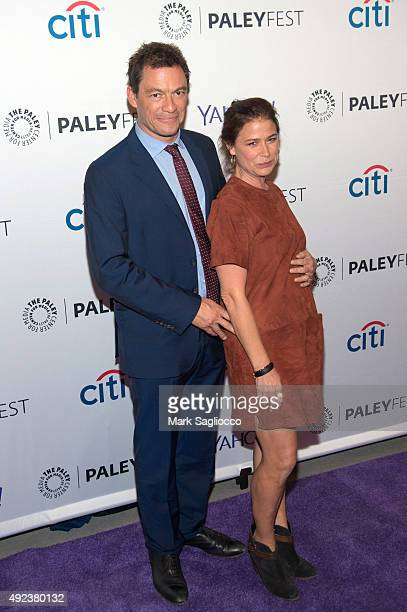 Actors Dominic West and Maura Tierney attend the PaleyFest New York 2015 screening of The Affair at The Paley Center for Media on October 12 2015 in...