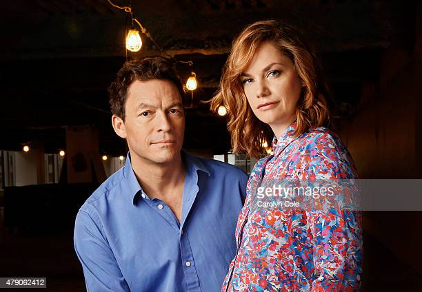 Actors Dominic West Ruth Wilson from Showtime's 'The Affair' are photographed for Los Angeles Times on May 5 2015 in New York City PUBLISHED IMAGE...