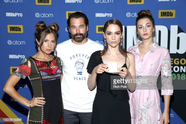 Actors Dominique ProvostChalkley Tim Rozon Melanie Scrofano and Katherine Barrell attend the #IMDboat At San Diego ComicCon 2018 Day Two at The IMDb...