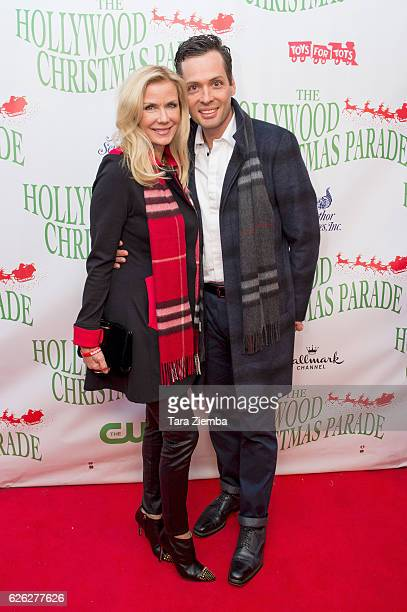 Actors Dominique Zoida and Katherine Kelly Lang arrive at the 85th Annual Hollywood Christmas Parade on November 27 2016 in Hollywood California