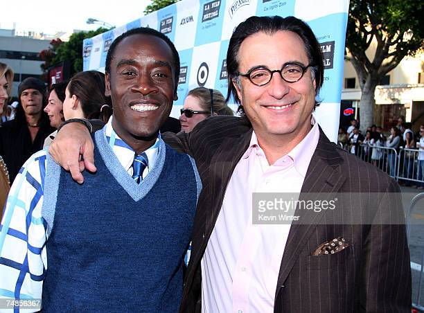 Actors Don Cheadle and Andy Garcia arrive to the Los Angeles Film Festival opening night screening of the Focus Features film 'Talk to Me' at the...