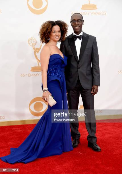 Actors Don Cheadle and Bridgid Coulter arrive at the 65th Annual Primetime Emmy Awards held at Nokia Theatre LA Live on September 22 2013 in Los...