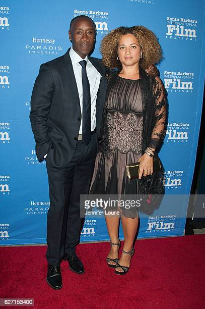 Actors Don Cheadle and Bridgid Coulter arrive at the Santa Barbara International Film Festival honors Warren Beatty with the 11th Annual Kirk Douglas...