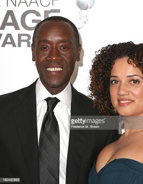 Actors Don Cheadle and Bridgid Coulter attend the 44th NAACP Image Awards at The Shrine Auditorium on February 1 2013 in Los Angeles California