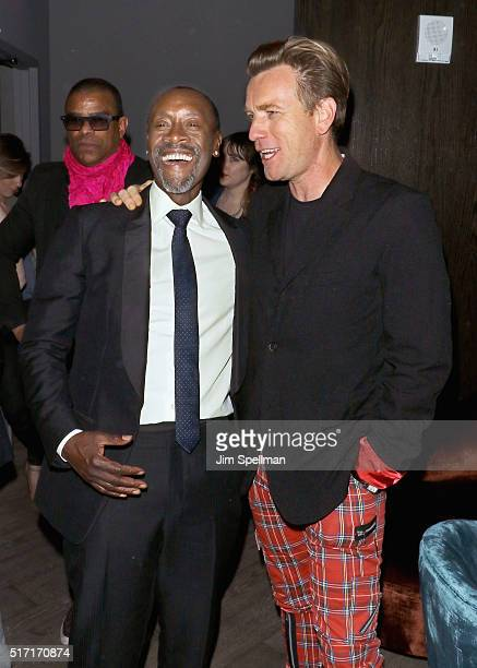 Actors Don Cheadle and Ewan McGregor attend The Cinema Society with Ketel One and Robb Report host a screening of Sony Pictures Classics' 'Miles...