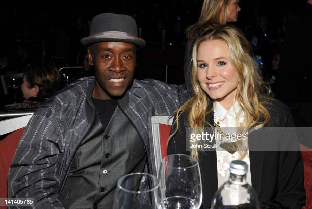 Actors Don Cheadle and Kristen Bell attend UNICEF Playlist With The AList at El Rey Theatre on March 15 2012 in Los Angeles California