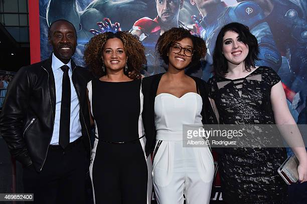Actors Don Cheadle Bridgid Coulter Ayana Tai Cheadle and guest attend the world premiere of Marvel's Avengers Age Of Ultron at the Dolby Theatre on...
