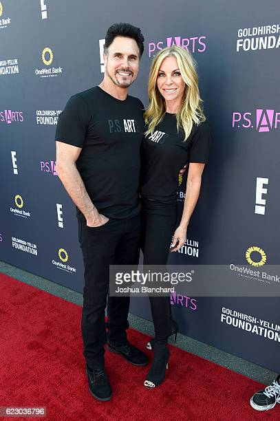 Actors Don Diamont and Cindy Ambuehl attend PS ARTS and OneWest Bank's Express Yourself 2016 at Barker Hangar on November 13 2016 in Santa Monica...