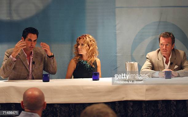 Actors Don Diamont Tracey E Bregman and Peter Bergman of the television show The Young and the Restless speak at the 2006 Summer Television Critics...