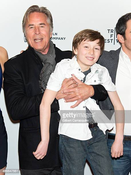 Actors Don Johnson and Skylar Gaertner attend the 'Alex of Venice' screening during the 2014 Tribeca Film Festival at SVA Theater on April 18 2014 in...