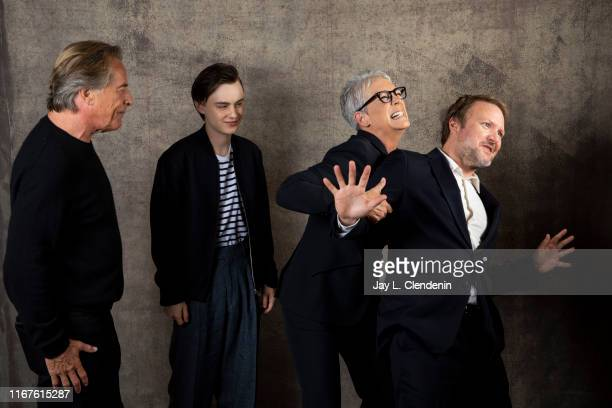Actors Don Johnson Jaeden Martell Jamie Lee Curtis and director Rian Johnson from 'Knives Out' are photographed for Los Angeles Times on September 8...