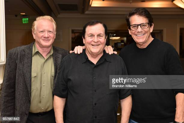 Actors Don Most Burt Ward and Anson Williams attend The Southern California Motion Picture Council's honoring of Burt Ward with the Golden Halo Award...