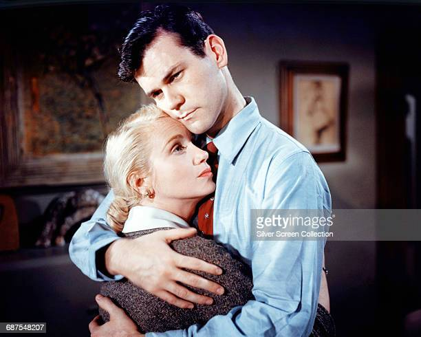 Actors Don Murray as Johnny Pope and Eva Marie Saint as Celia Pope in the film 'A Hatful of Rain' 1957