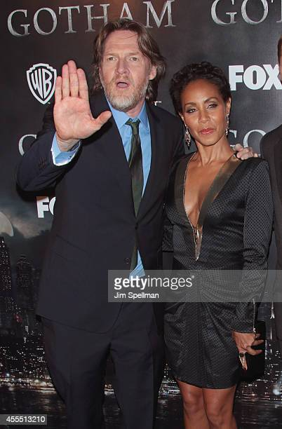Actors Donal Logue and Jada Pinkett Smith attend the 'Gotham' Series Premiere at The New York Public Library on September 15 2014 in New York City