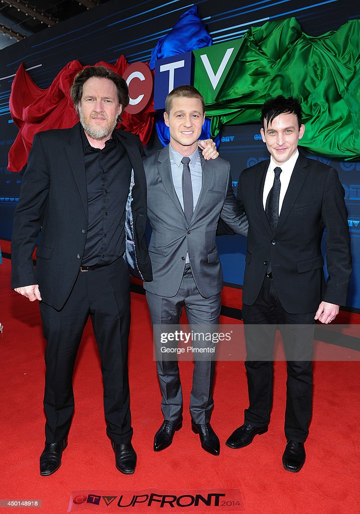Actors Donal Logue, Ben McKenzie and Robin Lord Taylor of Gotham attends the CTV 2014 Upfront at Sony Centre for the Performing Arts on June 5, 2014 in Toronto, Canada.