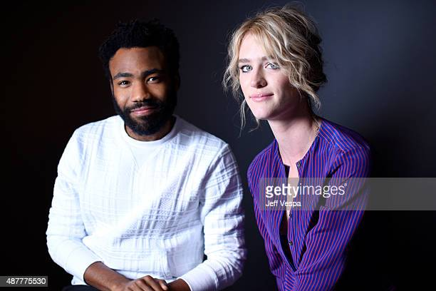 Actors Donald Glover and Mackenzie Davis from 'The Martian' pose for a portrait during the 2015 Toronto International Film Festival at the TIFF Bell...