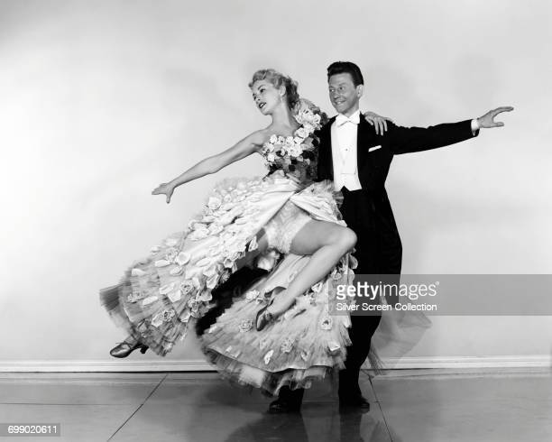 Actors Donald O'Connor as Clarence 'Jigger' Millard and Janet Leigh as Chris Hall in the film 'Walking My Baby Back Home' 1953