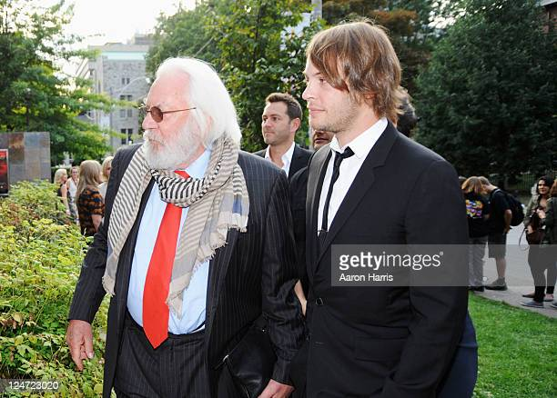 Actors Donald Sutherland and Angus Sutherland attend the premiere of 'I'm Yours' at the Isabel Bader Theatre during the 2011 Toronto International...