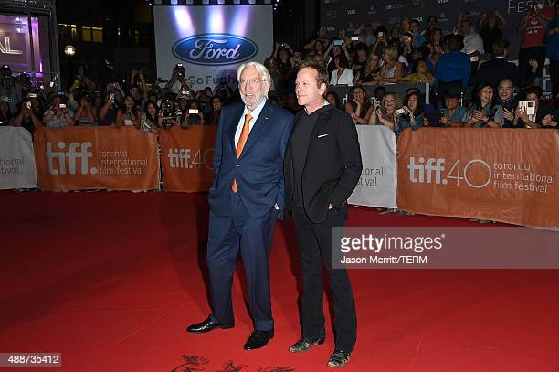 Actors Donald Sutherland and Kiefer Sutherland attend the 'Forsaken' premiere during the 2015 Toronto International Film Festival at Roy Thomson Hall...