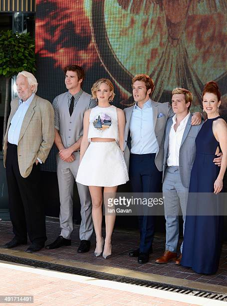 Actors Donald Sutherland Liam Hemsworth Jennifer Lawrence Sam Claflin Josh Hutcherson and Julianne Moore attend 'The Hunger Games Mockingjay Part 1'...