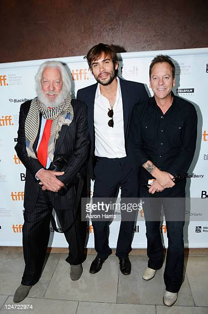 Actors Donald Sutherland Rossif Sutherland and Kiefer Sutherland attend the premiere of I'm Yours at the Isabel Bader Theatre during the 2011 Toronto...