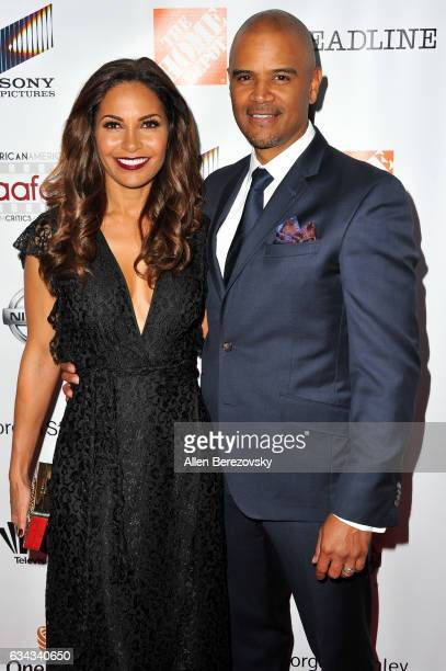 Actors Dondre Whitfield and Salli Richardson attend the 8th Annual AAFCA Awards at Taglyan Complex on February 8 2017 in Los Angeles California