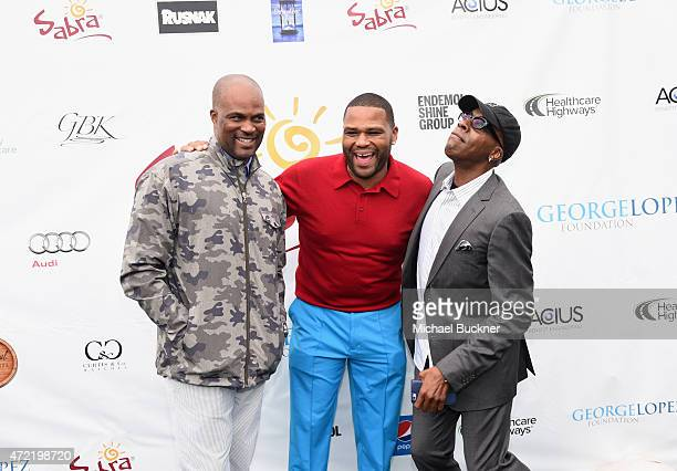 Actors Dondre Whitfield Anthony Anderson and comedian Arsenio Hall attended the 8th Annual George Lopez Celebrity Golf Classic presented by Sabra...