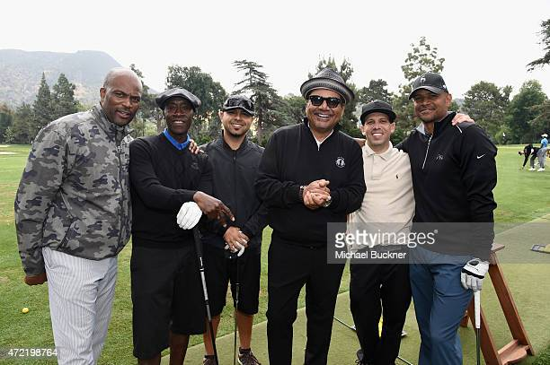 Actors Dondre Whitfield Don Cheadle and host/comedian George Lopez attended the 8th Annual George Lopez Celebrity Golf Classic presented by Sabra...