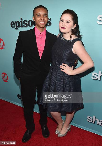 Actors Donis Leonard Jr and Emma Kenney arrive to Showtime's Celebration of AllNew Seasons Of Shameless House Of Lies And Episodes at Cecconi's...