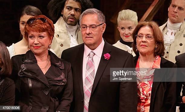 Actors Donna McKechnie Michael Serrecchia and Kelly Bishop attend the 40th Anniversary Of A Chorus Line at The Public Theater on April 16 2015 in New...