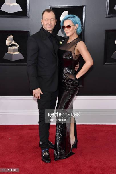 Actors Donnie Wahlberg and Jenny McCarthy attend the 60th Annual GRAMMY Awards at Madison Square Garden on January 28, 2018 in New York City.