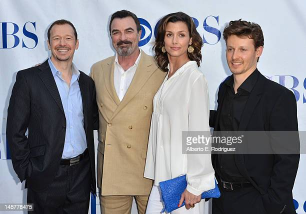 Actors Donnie Wahlberg Tom Selleck Bridget Moynahan and Will Estes arrive to a screening and panel discussion of CBS's Blue Bloods at Leonard H...