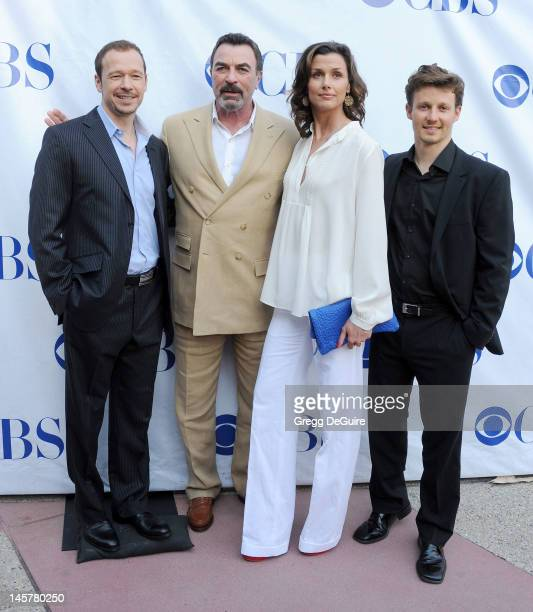 Actors Donnie Wahlberg Tom Selleck Bridget Moynahan and Will Estes arrive at the Blue Bloods Special Screening And Panel Discussion at Leonard H...