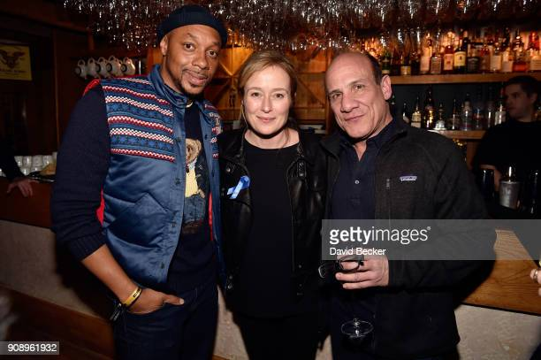 Actors Dorian Missick Jennifer Ehle and Paul BenVictor attend the 'Monster' dinner film reception presented by the RAND Luxury Escape at Grappa...