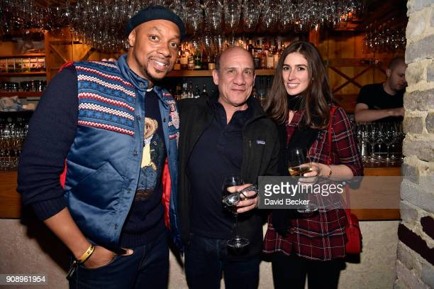 Actors Dorian Missick Paul BenVictor and Cali Senkpiel attend the 'Monster' dinner film reception presented by the RAND Luxury Escape at Grappa...
