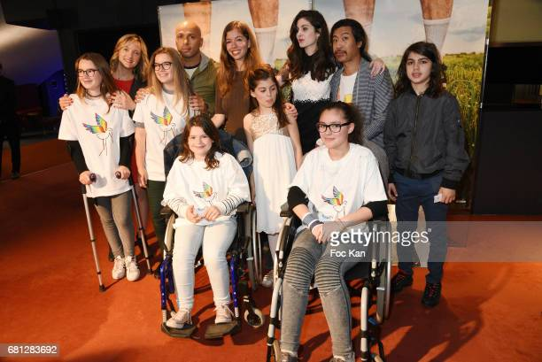 Actors Dorothee Pousseo Eric Judor Celia Rosich Marie Helmer Claire Chust Bun Hay Mean and guests attend 'Problemos' Paris Premiere At UGC Cine Cite...