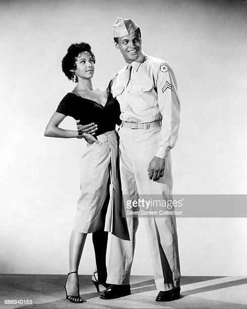 Actors Dorothy Dandridge and Harry Belafonte in a publicity still for the film 'Carmen Jones' 1954