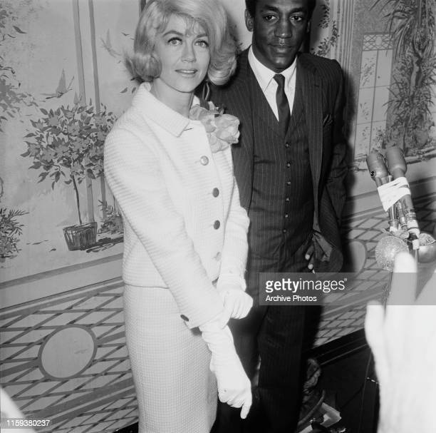 Actors Dorothy Malone and Bill Cosby at the Golden Apple Awards presented by the Hollywood Women's Press Club USA 1966