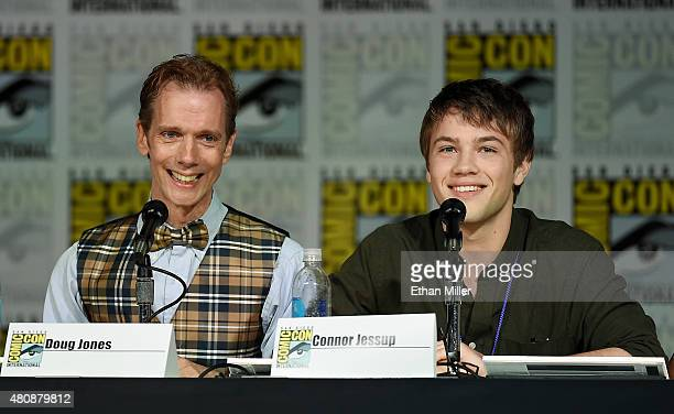 Actors Doug Jones and Connor Jessup attend the Falling Skies The Final Farewell panel during ComicCon International 2015 at the San Diego Convention...