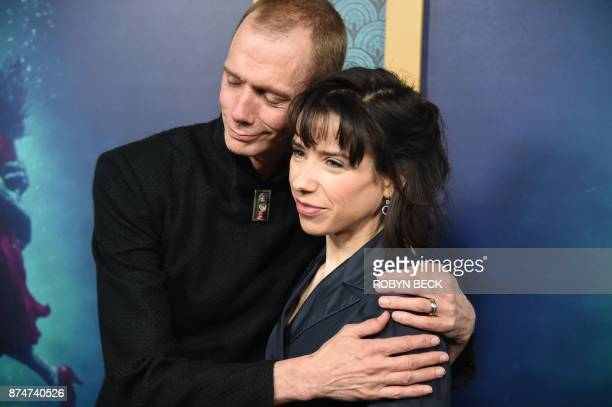 Actors Doug Jones and Sally Hawkins attend the premiere of The Shape of Water November 15 2017 at the Academy of Motion Pictures Arts Science in...