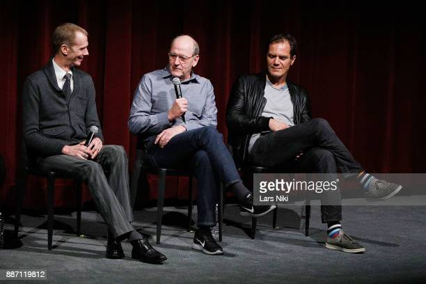 Actors Doug Jones Richard Jenkins and Michael Shannon on stage during The Academy of Motion Picture Arts Sciences Official Academy Screening of The...