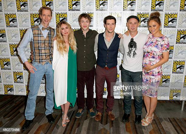 Actors Doug Jones Sarah Carter Connor Jessup Drew Roy Colin Cunningham and Moon Bloodgood attend the Falling Skies press room during TNT at ComicCon...