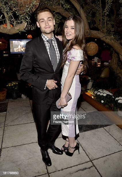 Actors Douglas Booth and Hailee Steinfeld attend the premiere of Relativity Media's Romeo And Juliet after party at Soho House on September 24 2013...