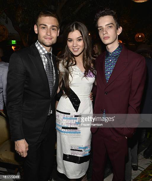 Actors Douglas Booth Hailee Steinfeld and Kodi SmitMcPhee attend the premiere of Relativity Media's 'Romeo And Juliet' after party at Soho House on...