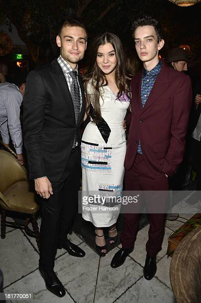 Actors Douglas Booth Hailee Steinfeld and Kodi SmitMcPhee attend the premiere of Relativity Media's Romeo And Juliet after party at Soho House on...