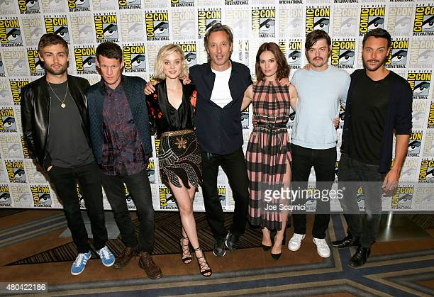 Actors Douglas Booth Matt Smith and Bella Heathcote director Burr Steers and actors Lily Smith Sam Riley and Jack Huston attend the 'Pride And...