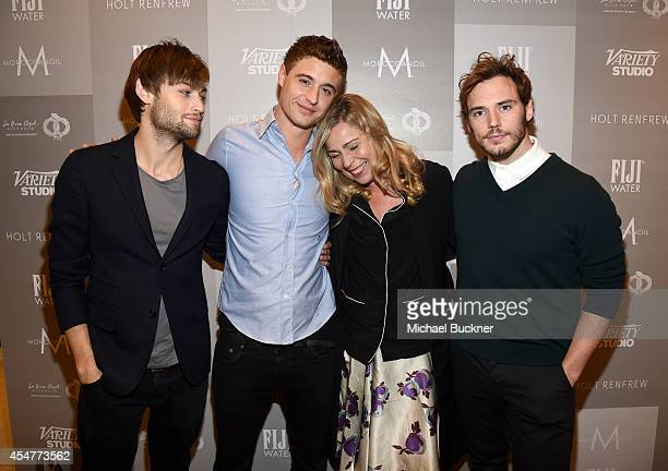 Actors Douglas Booth Max Irons Director Lone Scherfig and actor Sam Claflin attend day 2 of the Variety Studio presented by Moroccanoil at Holt...