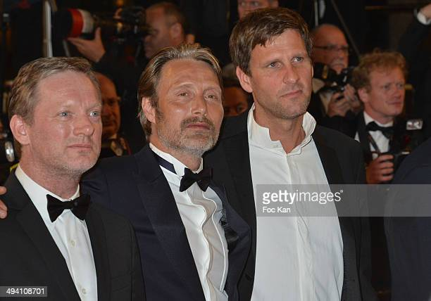 Actors Douglas Henshall and Mads Mikkelsen attend the 'The Salvation' premiere during the 67th Annual Cannes Film Festival on May 17 2014 in Cannes...