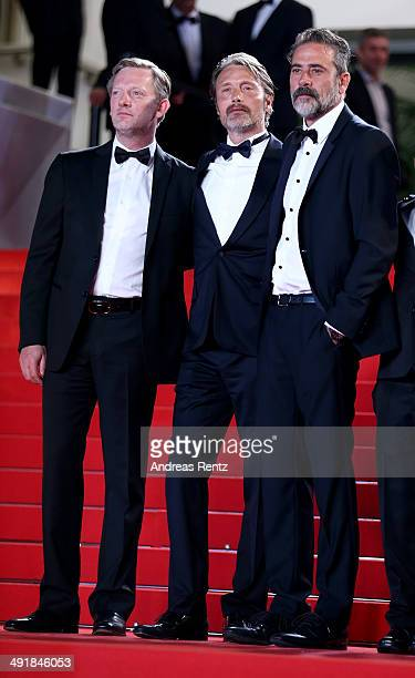 Actors Douglas Henshall Mads Mikkelsen and Jeffrey Dean Morgan attend the The Salvation premiere during the 67th Annual Cannes Film Festival on May...