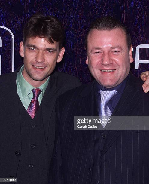 Actors Dougray Scott and Ray Winstone attend the British Independent Film Awards 2000 at The Cafe Royal in London on October 25 2000 Both actors...